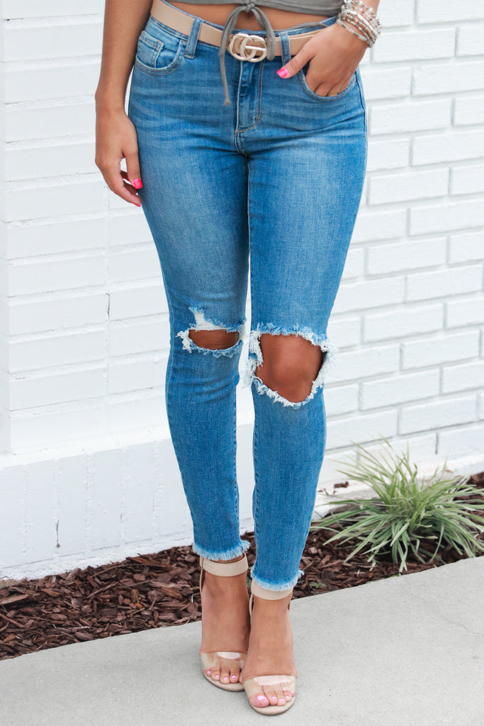 Meet You After Mid Rise Cropped Skinny