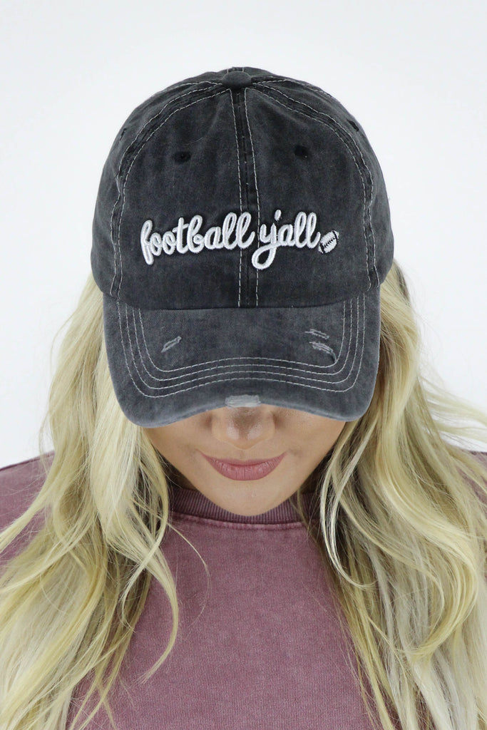 Football Y'all Embroidered Hat