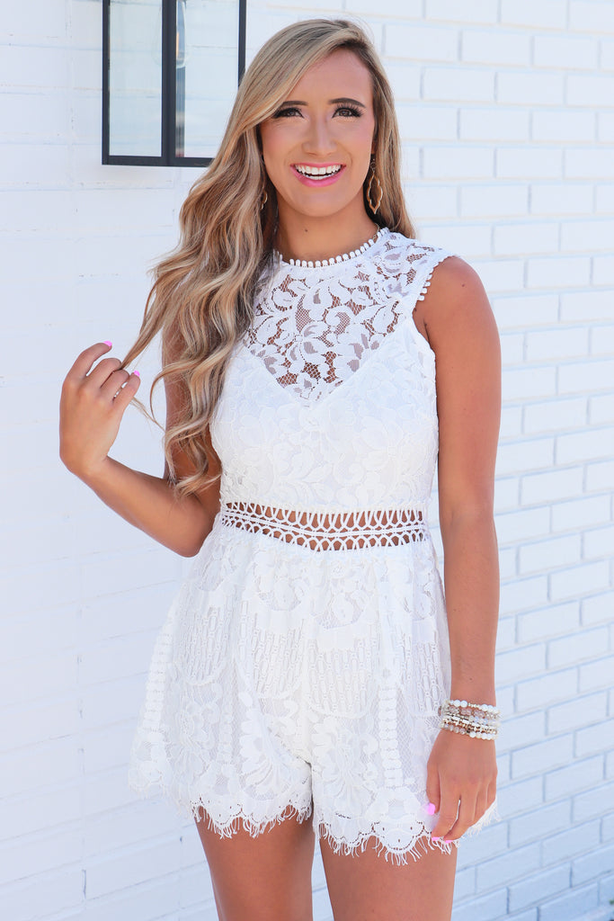 Bright Future Ahead Lace Romper