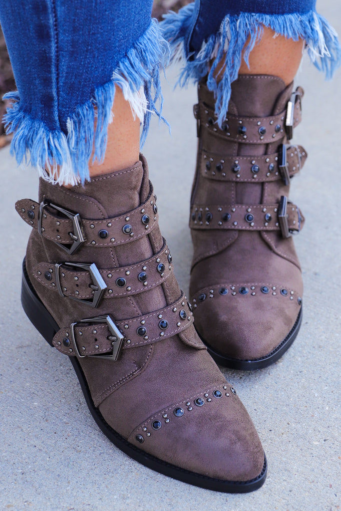 Better Than Revenge Studded Booties