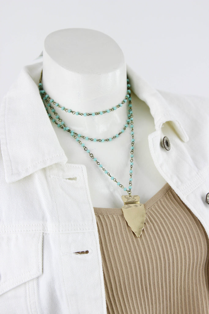 RESTOCK: Arrowhead And Bead Necklace