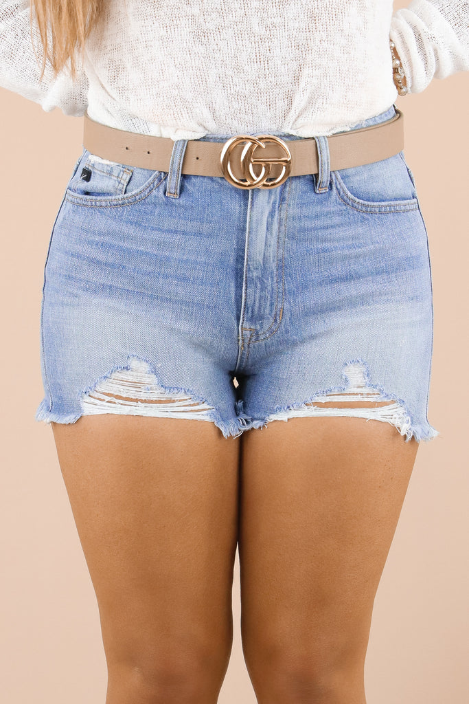 RESTOCK: Obtain The Look High Rise Denim Shorts