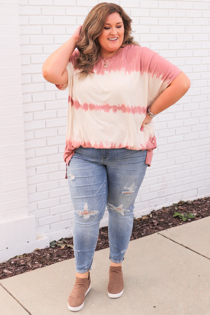 CURVY: Inspired Your Love Tie Dye Top