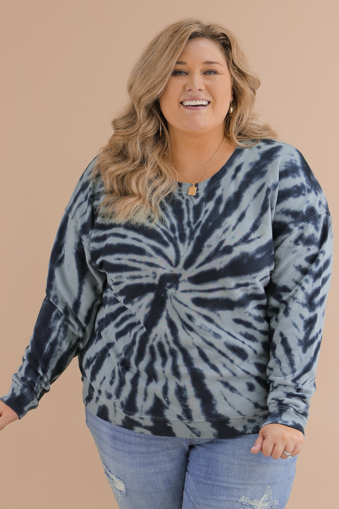 CURVY: Best Of Both Worlds Tie Dye Pullover
