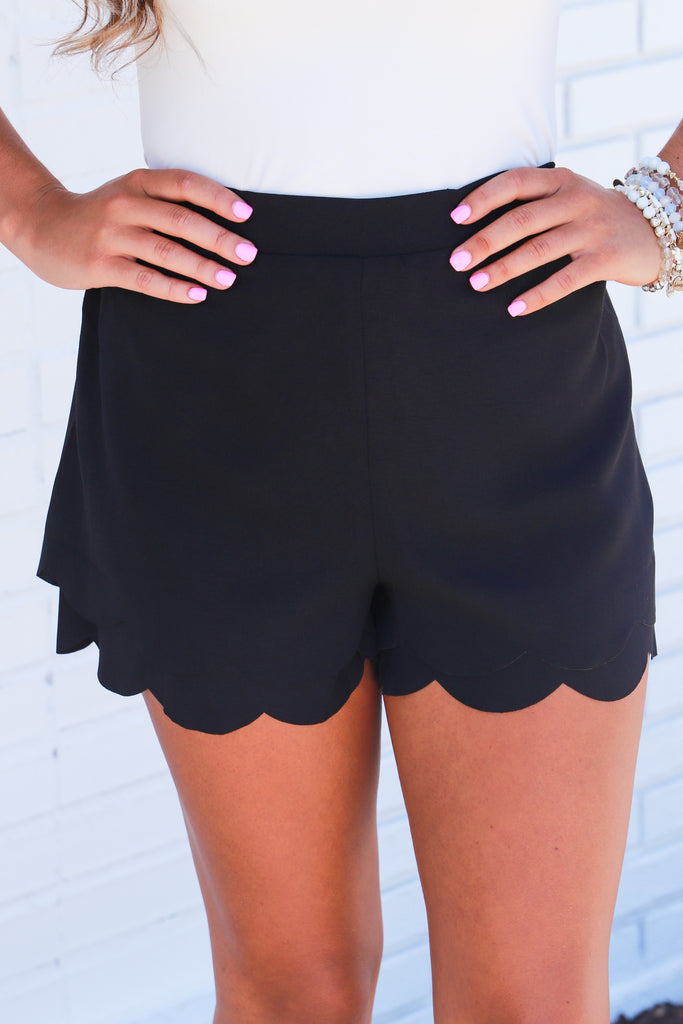 Look Both Ways Scalloped Shorts