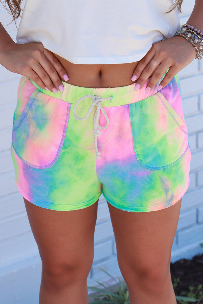 Chasing The Idea Tie Dye Shorts