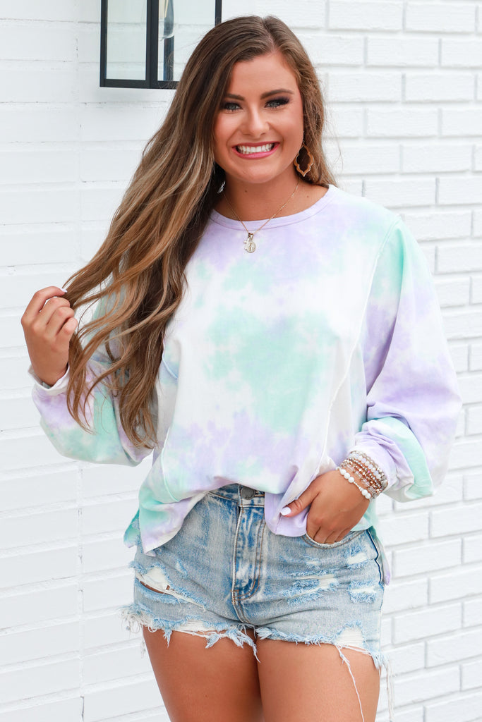 Worried About You Tie Dye Top