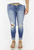 RESTOCK: Right Through You Mid Rise Distressed Skinny