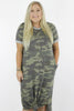 CURVY: Be With Me Camouflage Print Maxi Dress