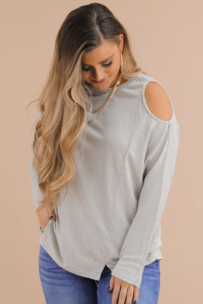 Together Or Not Cold Shoulder Top