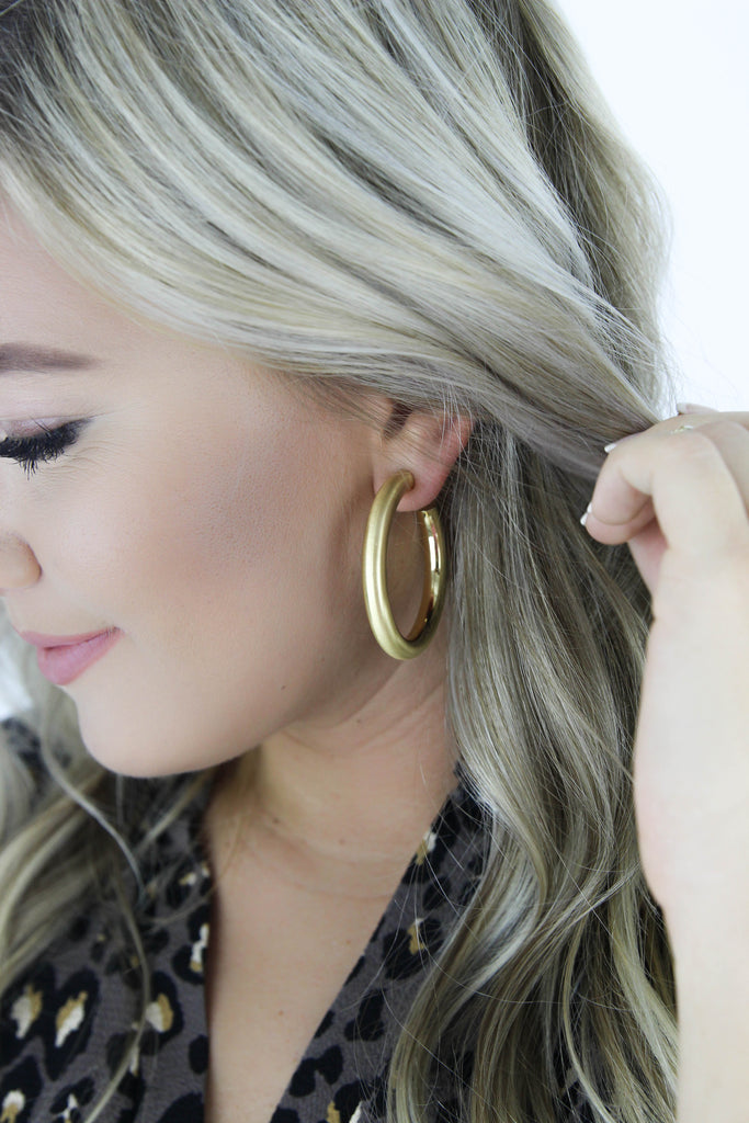 RESTOCK: Half Hoop Gold Earrings