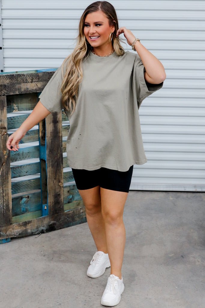 Dainty Details Oversized Top