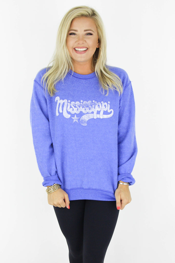RESTOCK: Funky Mississippi Reverted Graphic Pullover
