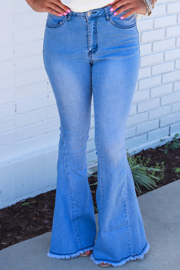 Flirting With Luck Flare Denim Jean
