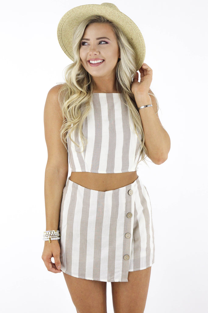 Can't Be Mad Striped Two Piece