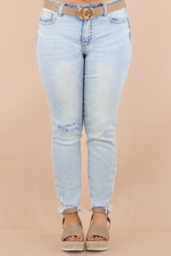 Reminder Of The Day Mid Rise Cropped Skinny