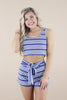 Happy To Be With You Striped Crop Tank