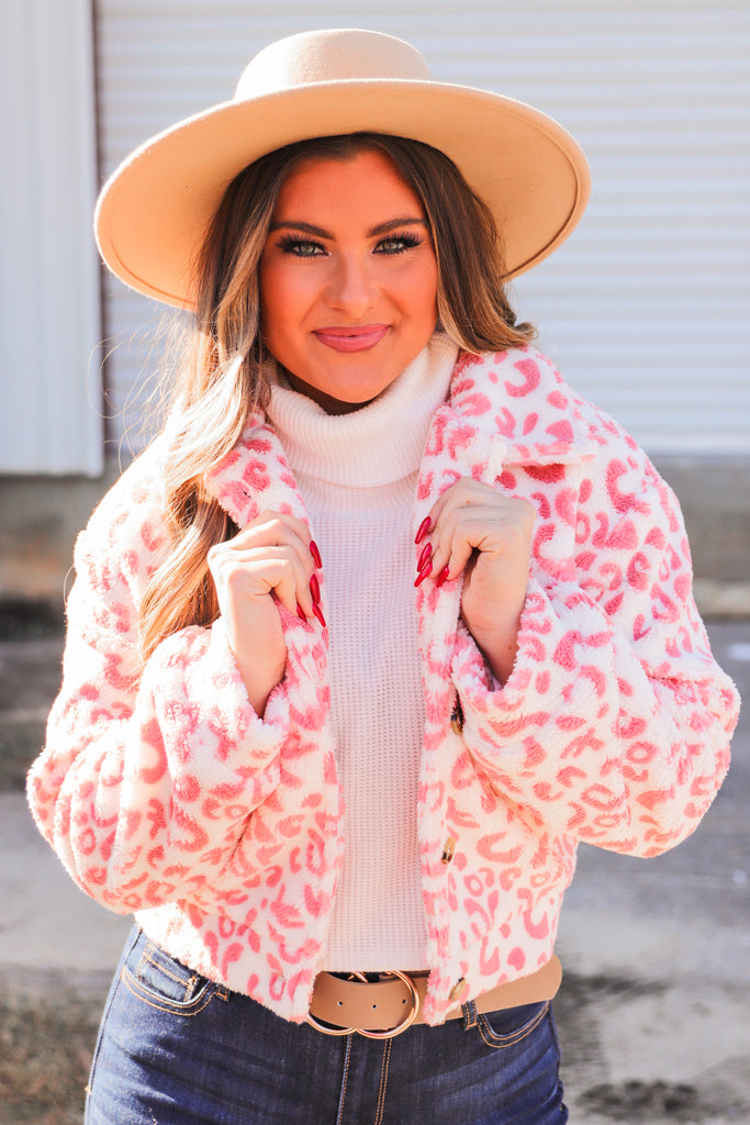 Across The Universe Printed Faux Fur Jacket