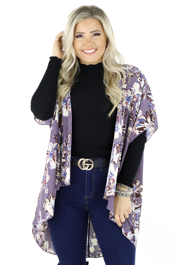 Be There For You Floral Kimono