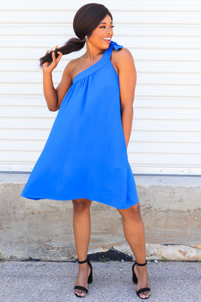 Midday Strolls One Shoulder Dress