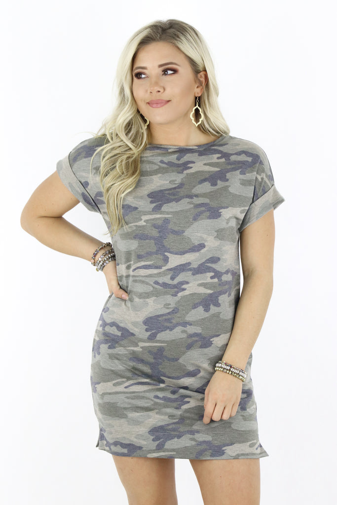 My Own Way Camo Dress