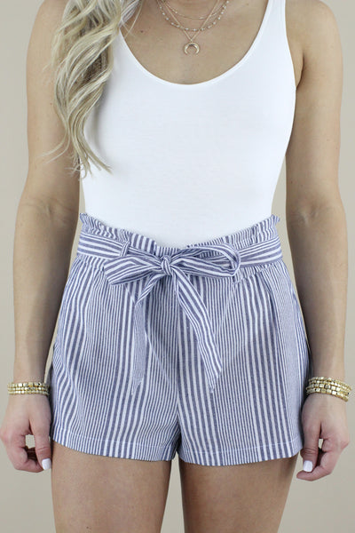 Sass From The Past Striped Shorts