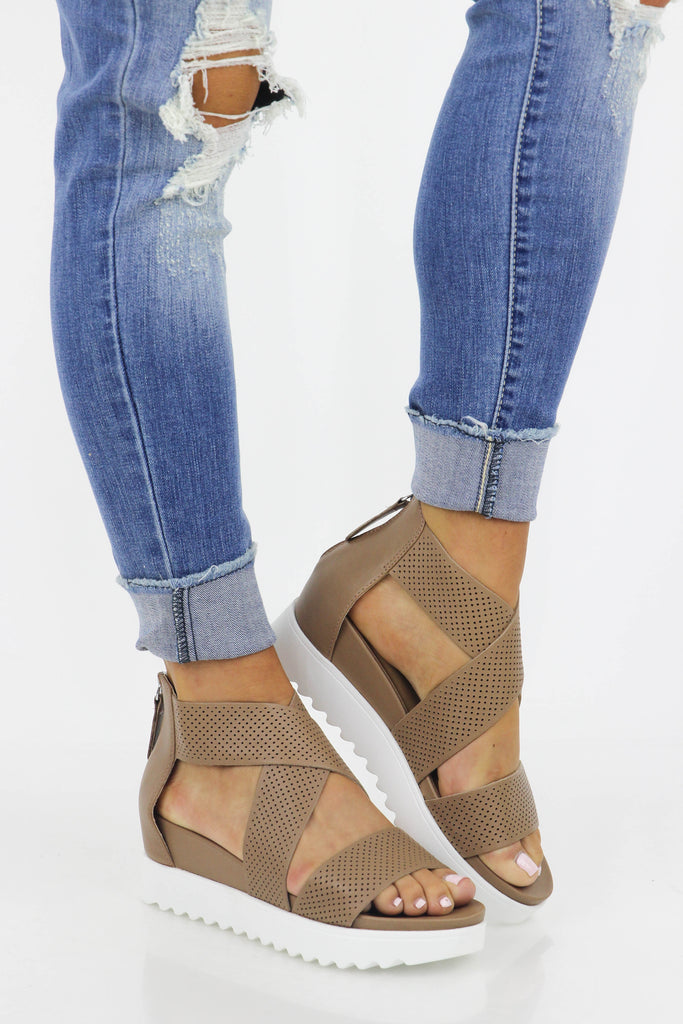 Steve Madden: Crossed Off Platform Wedge