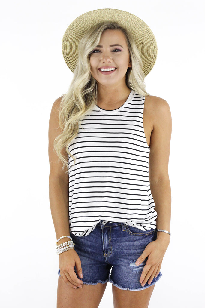Long Time Favorite Striped Tank: Available in 3 Colors