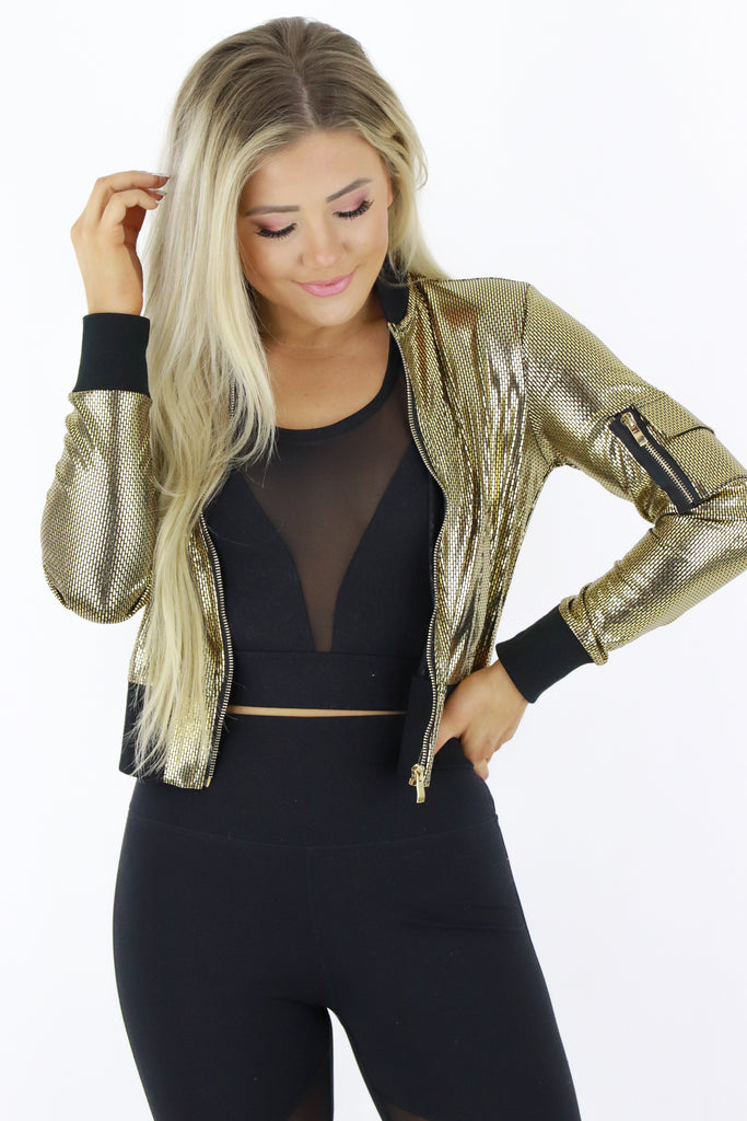 Flashing Lights Bomber Jacket