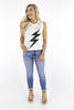 Needing Fame Distressed Graphic Tank Top