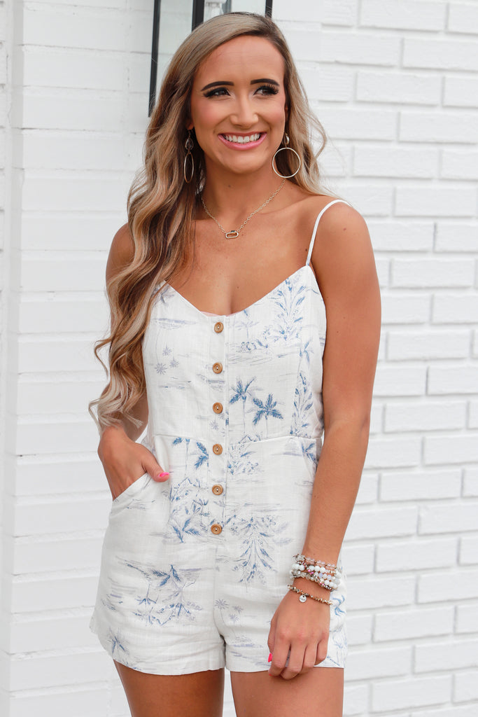 Dramatic Dreams Button Down Romper