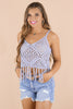 Off To Anywhere Crochet Fringe Top