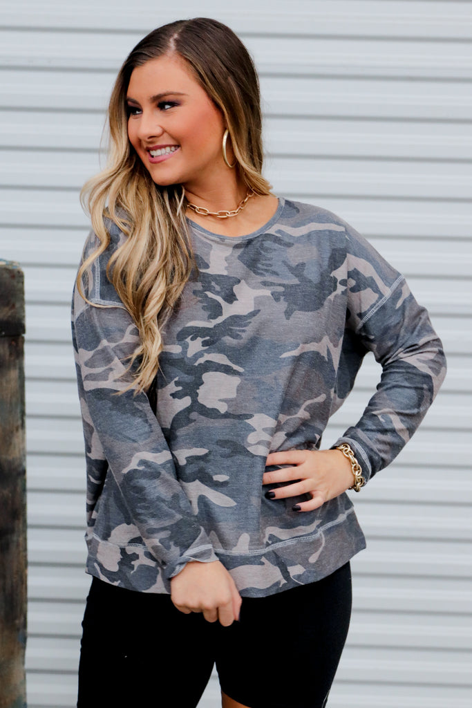 Playful Personalities Camouflage Top