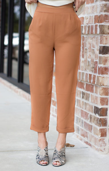 Taking High Risks Pants: Light Brown