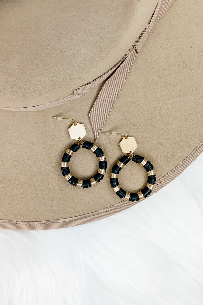 Rubber Disc Hoop Earrings