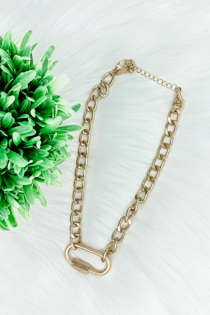 Chunky Chain Locket Necklace
