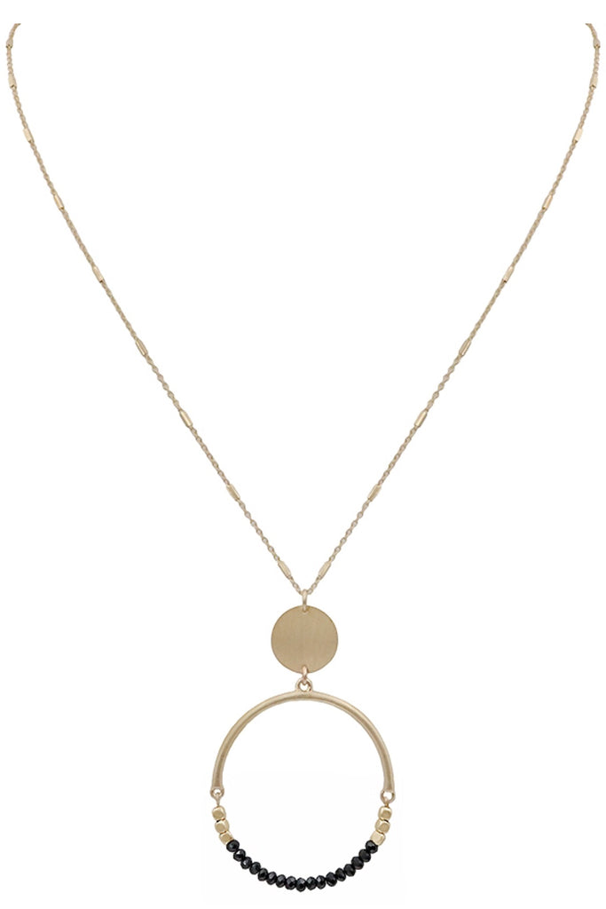 Crystal & Gold Circle Necklace