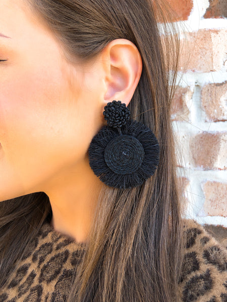 Juanita Black Earrings