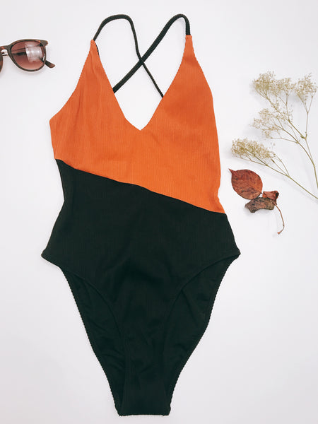 Called To The Tropics One Piece: Rust/Black