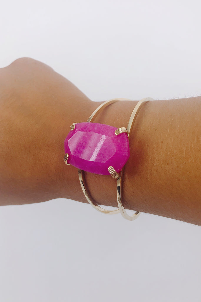 Faceted Hexagon Cuff