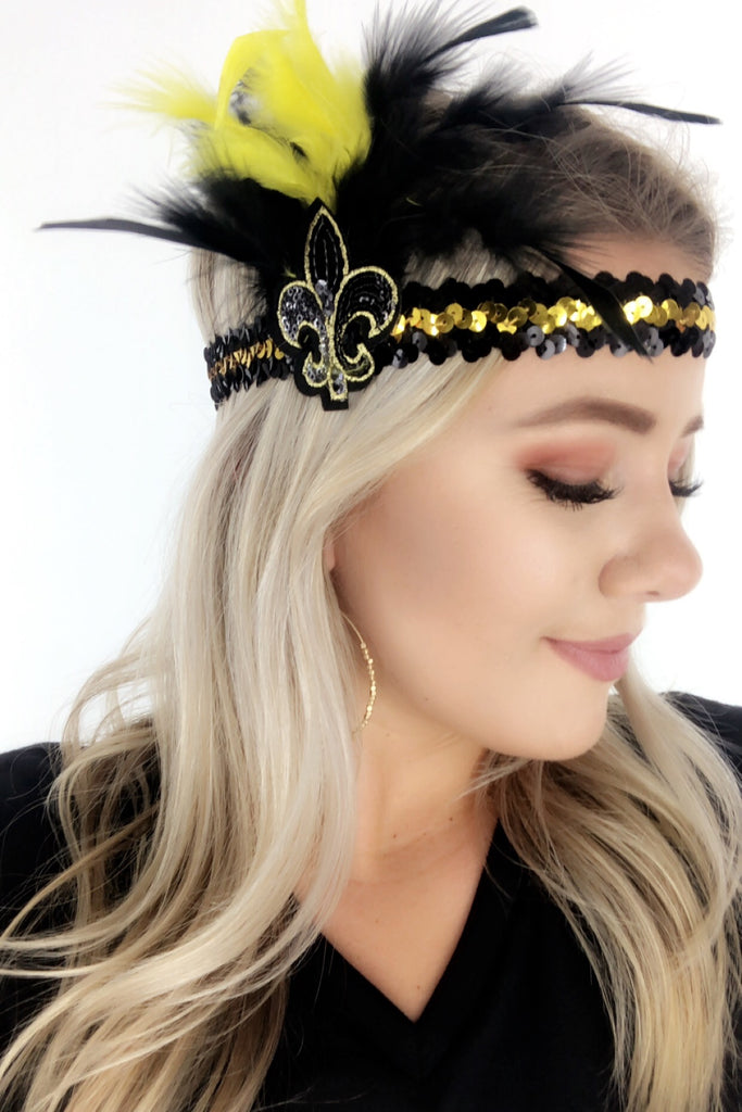 FDL Sequin Feather Headband