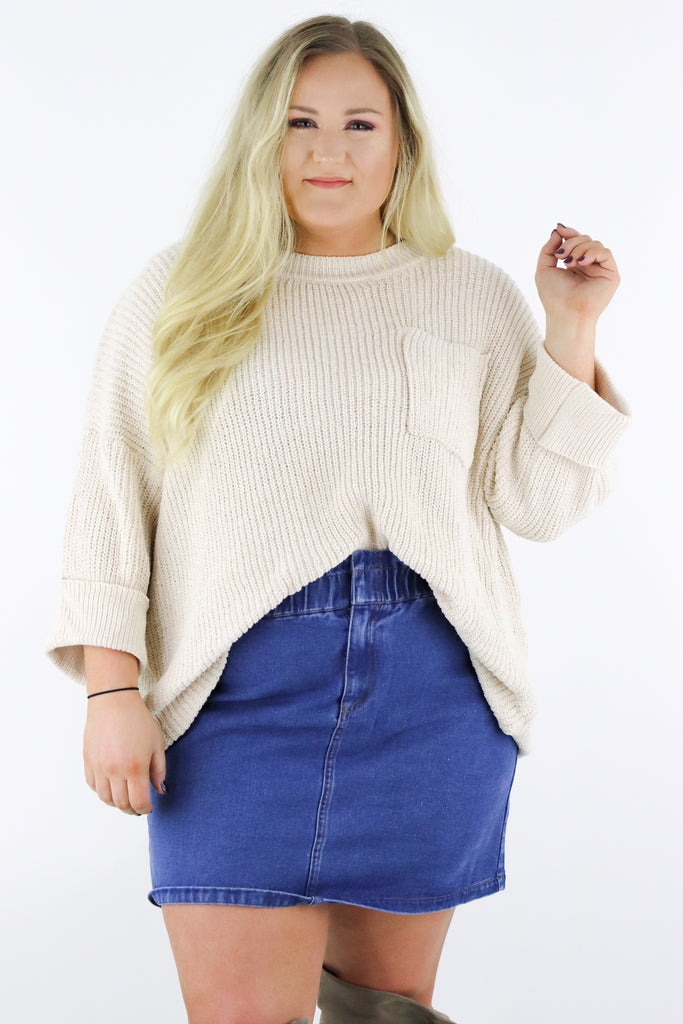 CURVY: Change Directions Sweater
