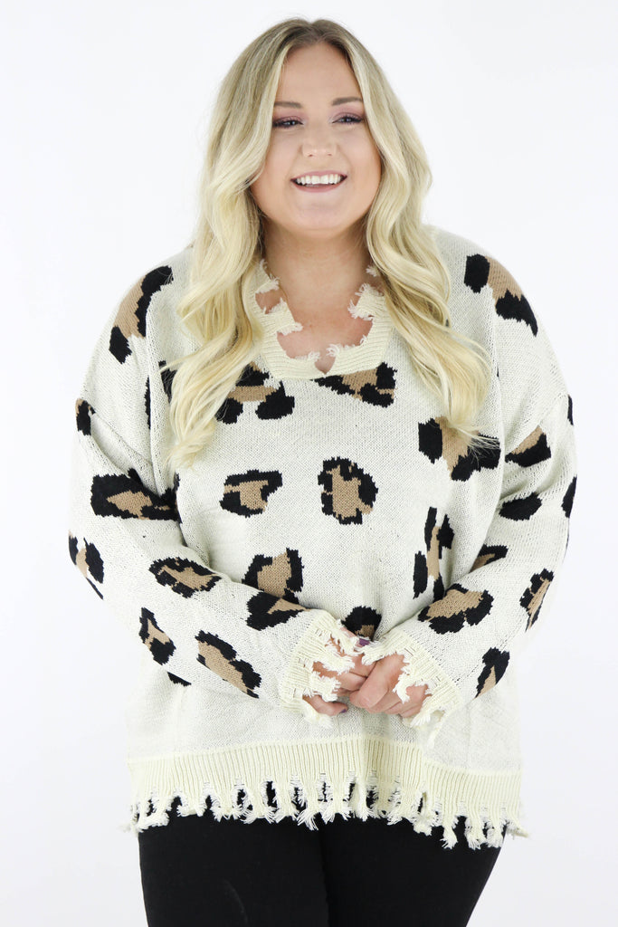 CURVY: Love Me Forever Leopard Sweater
