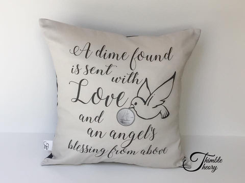 Angel's Blessing Dime Pillow