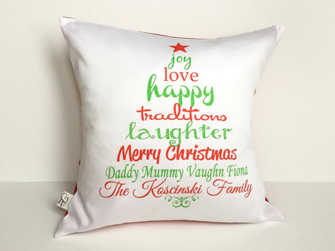 Custom Christmas Tree Pillow