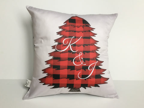 Buffalo Plaid Holiday Pillow