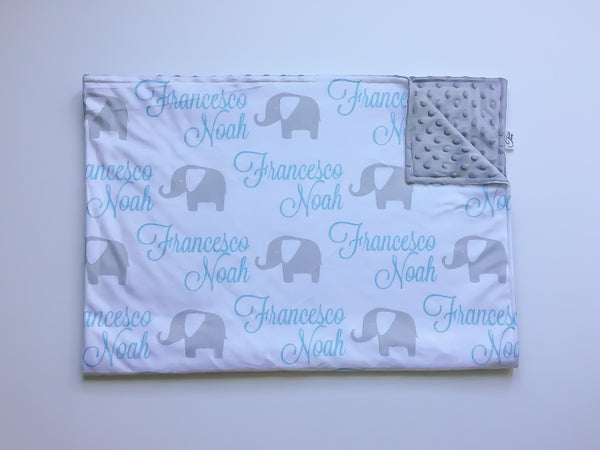 """Animals""- Personalized Double Sided Minky Blanket"
