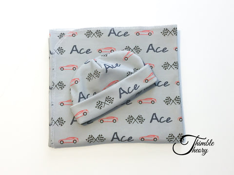 """Race Cars""- Welcome Home Baby Newborn Set"