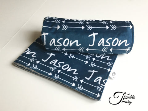 """Arrows""-Personalized Double Sided Minky Blanket"