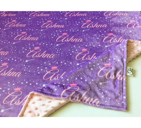 """Fairy Tale""- Personalized Double Sided Blanket"
